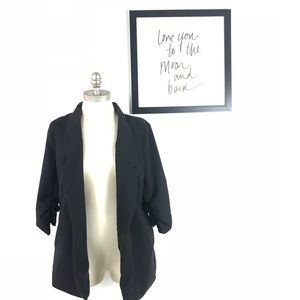 Anthropologie silence + noise Blazer Open front L